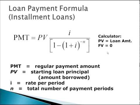 Introduction to Loan Formula