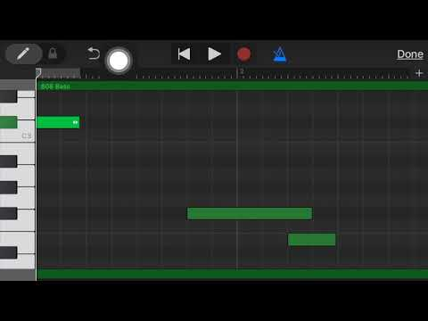 808 glides in Garageband - Garageband for Iphone tutorial