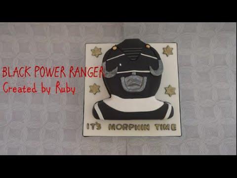 Black Power Ranger cake (How-to)