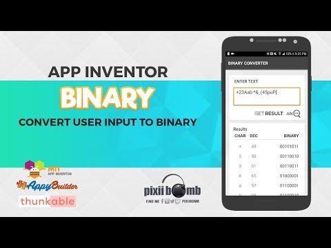 App Inventor: Binary Converter