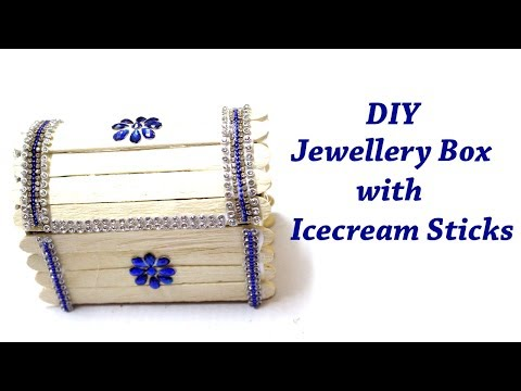 DIY Jewellery Box with Icecream Sticks