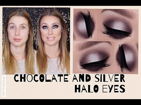 Chocolate and silver halo eyes