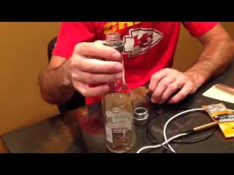 DIY how to industrial pipe liquor beer bottle chandelier light