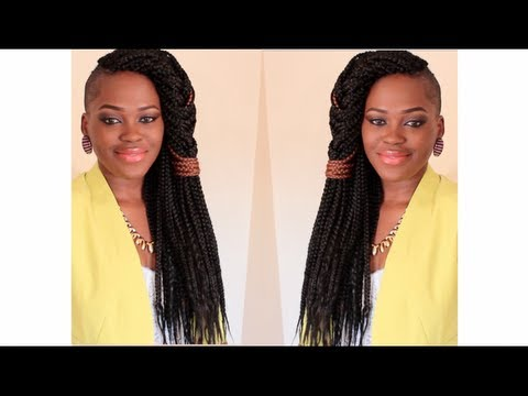 How To Do Box Braids & A Quick Style For Fresh Braids