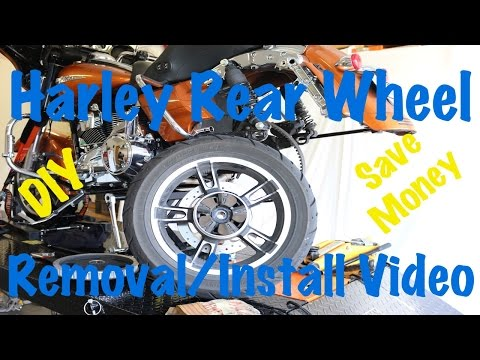 How To Remove & Install Rear Wheel & Tire on Harley Davidson | Biker Motorcycle Podcast