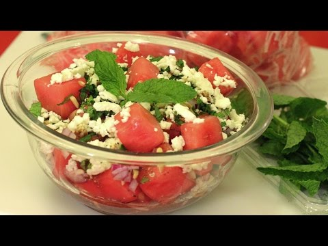 Watermelon Salad Recipe ...or how to save a sad melon