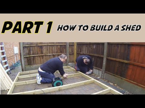 How To Build A Shed Part 1