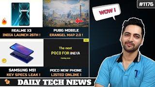 Realme X3 26th June,New POCO Phone,PUBG Mobile Erangel 2.0,Samsung M51 Specs,Google Amitabh Bachchan