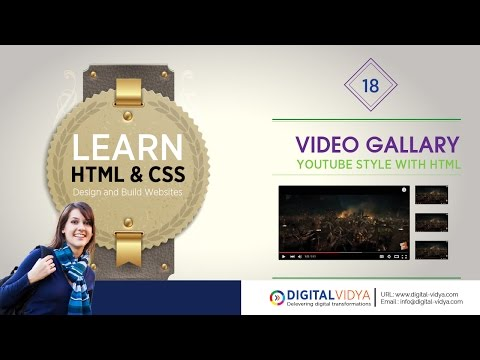 [Telugu Tutorial] How to Create Youtube Video Gallery With HTML - I FRAME DIY