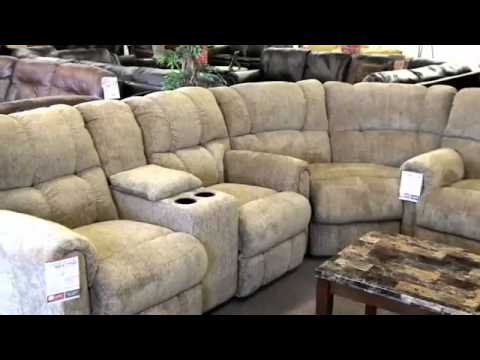 Lane Recliner Sectional 4 Recliners with Cupholders