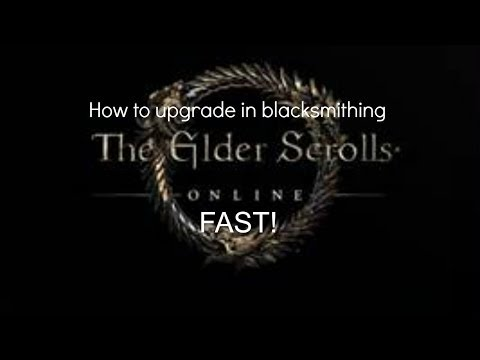 The Elder Scrolls Online: How to upgrade in blacksmithing fast and get infinate Iron!