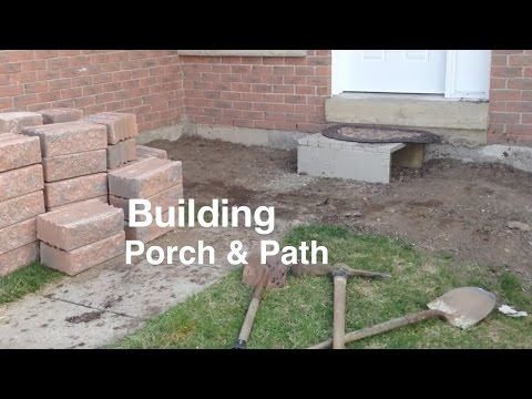 Building a Porch and Path way front of House