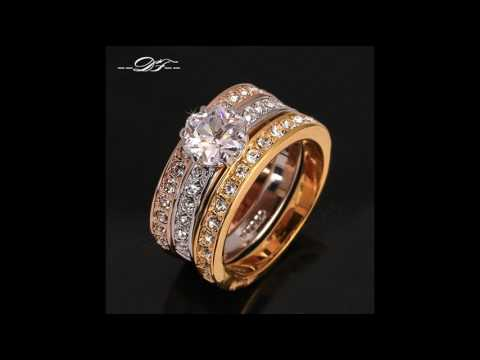 Pave Engagement Rings and Wedding Bands