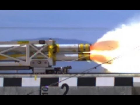 WORLDS FASTEST !!! US Air Force Rocket Engine Powered Sled
