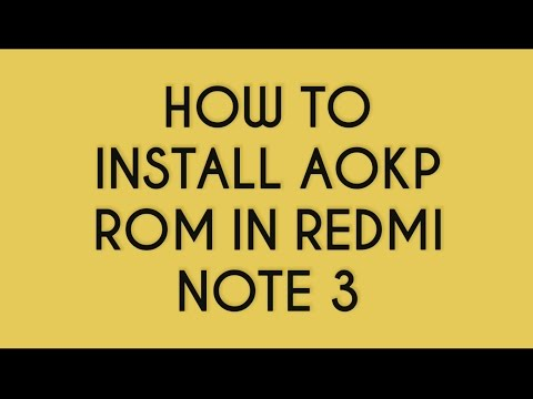 How To Install AOKP Custom ROM Based On Android 6.0 (MM) In Redmi Note 3 in Hindi/English