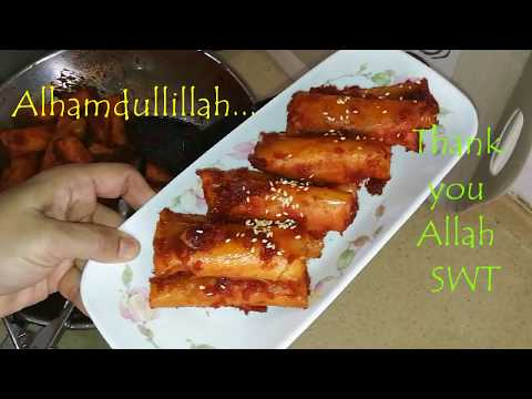 Popiah Goreng Sambal Bersira / Sweet & Spicy Fried Spring Rolls Malaysia cuisine by Linda Hussin