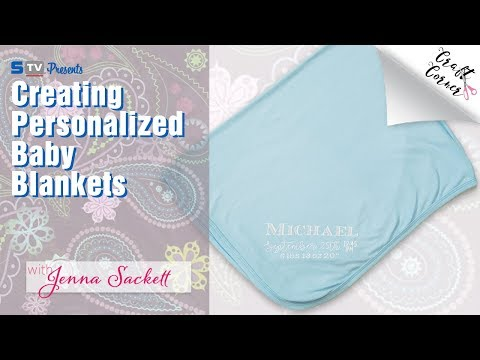 Creating Personalized Baby Blankets with the Silhouette Cameo | Craft Corner