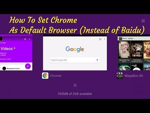 How To Set Chrome As Default Browser (Instead of Baidu) For Xiaomi Redmi Note 2 Phone