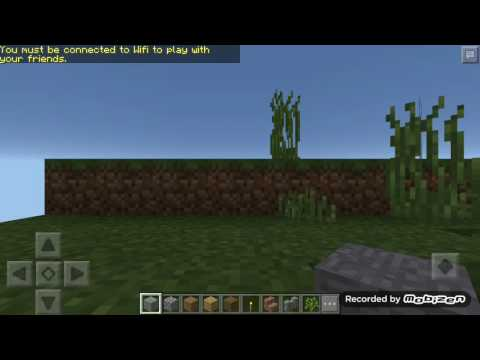 How to make color clay land  seed in Minecraft PE