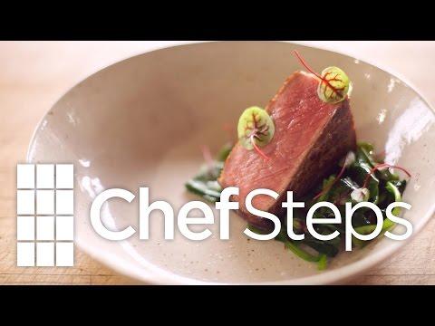 Coffee Butter Steak & Spinach • ChefSteps Recipe