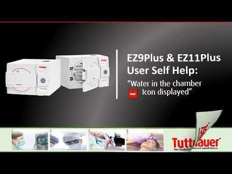 Autoclave Water Icon Error - Tuttnauer EZPlus Autoclave
