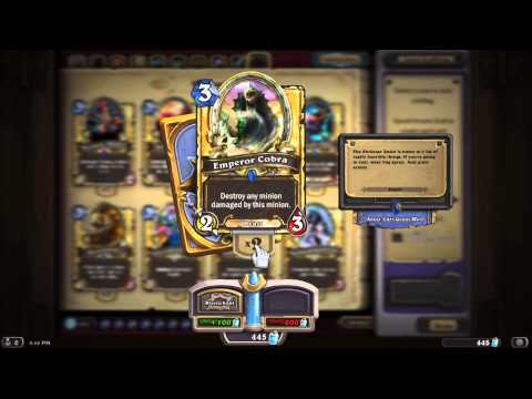 Hearthstone Golden Collection all but Class Cards