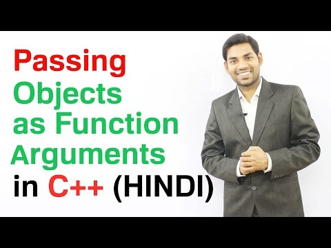 Passing Objects as Function Arguments in C++ (HINDI)