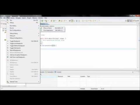 Basic Usage of ECLIPSE IDE (Java Programming)