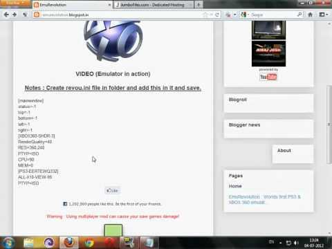 Emurevolution - Ps3 Emulator for pc (July 2012)