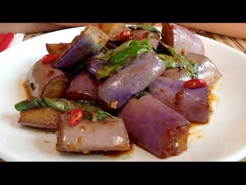 Asian Eggplant Recipes-How To Cook Eggplant-Stir Fry-Vegetarian Chinese Food