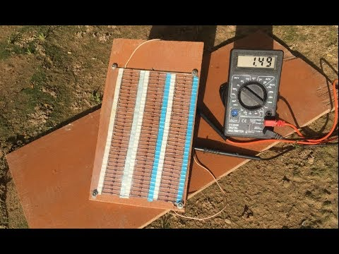 Free Energy 100% , How to make 2W solar cell from 100 zener diodes