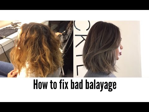 HOW TO COLOUR CORRECT BALAYAGE OMBRE | FIX VERY BAD BALAYAGE |NICKY LAZOU
