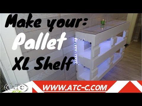 How to build an XL pallet shelf // DIY Modern Design