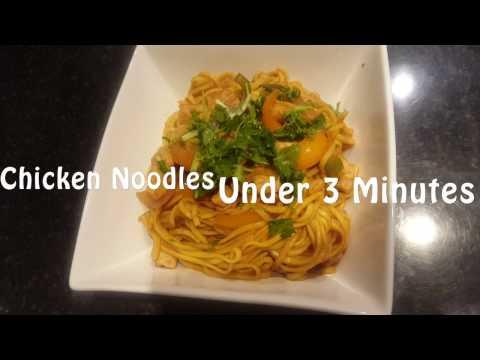 QUICK, EASY & TASTY Chicken Noodle Stir Fry in under 3 Mins