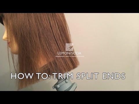 How to trim split ends, one length hair cut