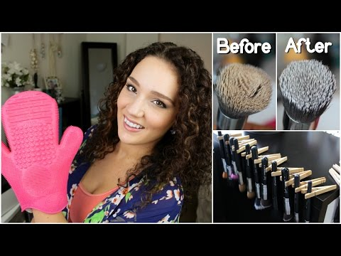 How to Wash & Dry Brushes & Beauty Blender | Sigma Spa Glove Demo