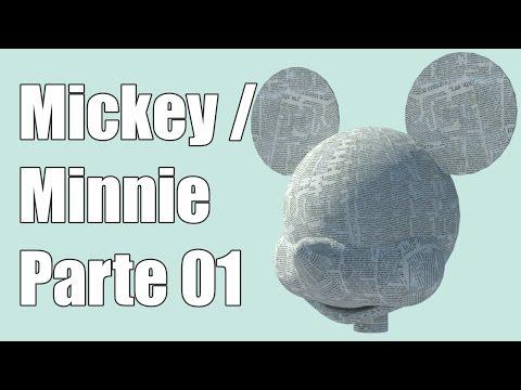 Como hacer una piñata de Minnie / Mickey | Parte 01 | Armado cabeza
