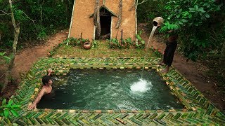 Building The Most Beautiful Decor Bamboo Underground Swimming Pool