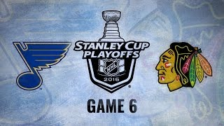 Blackhawks win 6-3 to force Game 7 against the Blues
