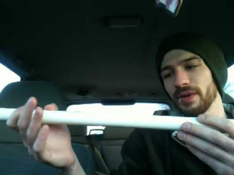 Homemade PVC Flute - Demo/Some common errors