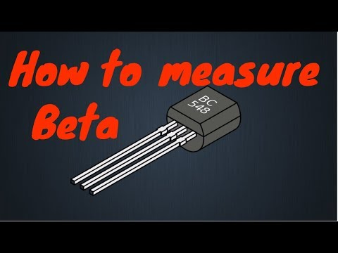 How to measure Beta of a transistor using multimeter