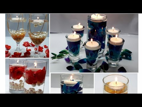 5 Floating Candle Centrepiece/  Water Candles For DIWALI/ Water Candles Ideas for Diwali, wedding