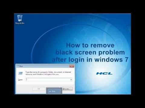 How to fix black screen after login in windows 7/Explorer.exe using regedit