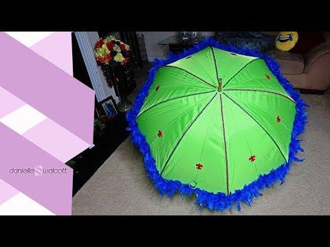 How to make a Mardi Gras Umbrella