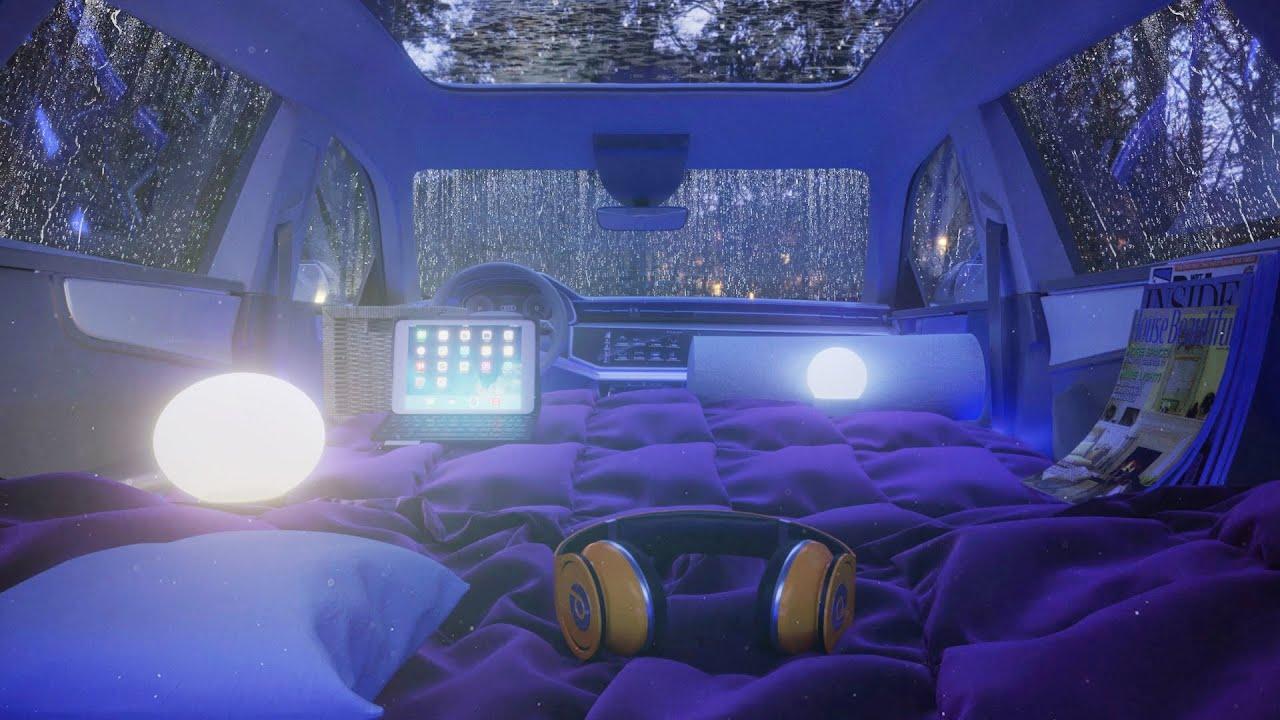 It's raining. I'll sleep in the car! - Car Camping