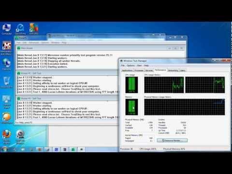 Prime95 CPU Stress Program Full Tutorial