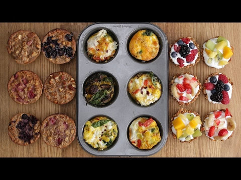 Three Healthy Breakfasts In A Muffin Tin
