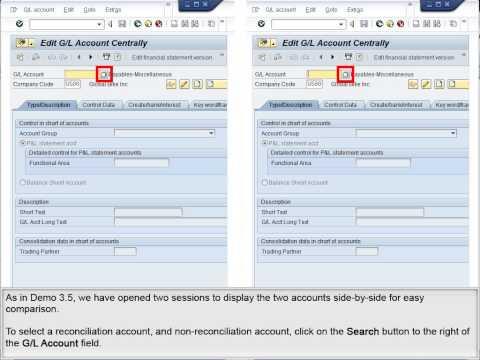 Demo 3.6 Compare Reconciliation and Non-Reconciliation AR Accounts