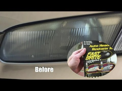 How To:  POLISH FADED HEADLIGHTS - Fast Brite LENS RESTORER as seen on TV