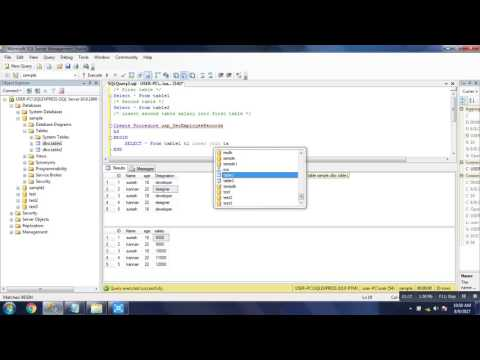 Sql Server Stored Procedure for join two tables inner Join